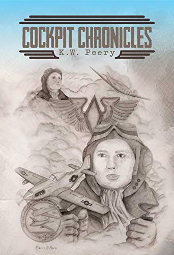 Cockpit Chronicles Cover: illustrations of airplanes and aviators