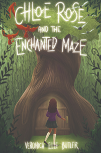 A young mixed race girl standing in front of a tree: Chloe Rose and the Enchanted Maze